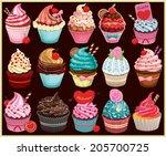 Vintage Cupcake Poster Set...