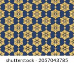 seamless vector pattern with... | Shutterstock .eps vector #2057043785