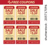 coupon sale  offers and... | Shutterstock .eps vector #205717096