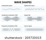 waveform. wave shapes.... | Shutterstock .eps vector #205720315