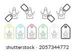 apron  protection vector icon...