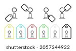 golf cup vector icon in tag set ...