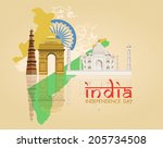 15th of august  indian... | Shutterstock .eps vector #205734508