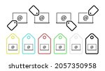 laptop email vector icon in tag ...