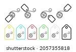 yoyo  toy vector icon in tag...