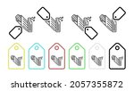 tamal  food vector icon in tag...   Shutterstock .eps vector #2057355872