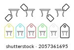 diningroom table vector icon in ...