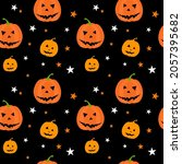 halloween seamless pattern with ...   Shutterstock .eps vector #2057395682