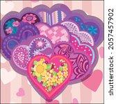 vector art illustration of... | Shutterstock .eps vector #2057457902