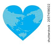 heart shaped three dimensional... | Shutterstock .eps vector #2057458022