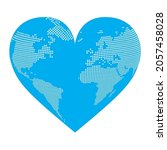 heart shaped three dimensional... | Shutterstock .eps vector #2057458028