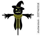 scarecrow. silhouette. scare...   Shutterstock .eps vector #2057465318
