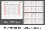 calendar planner for 2023 year. ... | Shutterstock .eps vector #2057468318