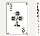 ace of clubs in the style of... | Shutterstock .eps vector #2057477552
