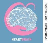 halves of heart and brain that... | Shutterstock .eps vector #2057480228