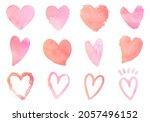 handwritten heart symbol vector ... | Shutterstock .eps vector #2057496152