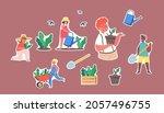 set of stickers children...   Shutterstock .eps vector #2057496755