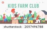 kids farm club landing page...   Shutterstock .eps vector #2057496788