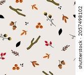 beautiful  seamless  cute fall...   Shutterstock .eps vector #2057498102