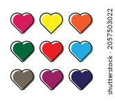 heart icon vector line on white ... | Shutterstock .eps vector #2057503022