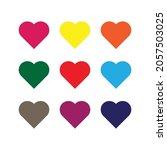 heart icon vector line on white ... | Shutterstock .eps vector #2057503025