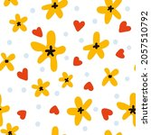 seamless pattern with yellow... | Shutterstock .eps vector #2057510792