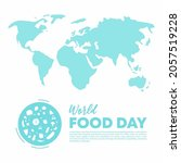 world food day blue color with... | Shutterstock .eps vector #2057519228