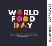 world food day banner template. ...   Shutterstock .eps vector #2057519255