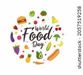 world food day illustration... | Shutterstock .eps vector #2057519258