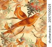 abstract cute birds pattern... | Shutterstock .eps vector #2057530025