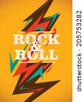 abstract rock and roll poster.... | Shutterstock .eps vector #205753282