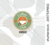 coffee logo creative abstract... | Shutterstock .eps vector #2057539802