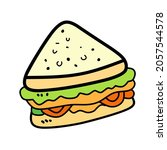 vector icon sandwich isolated...   Shutterstock .eps vector #2057544578