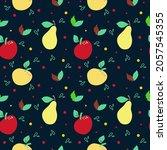 seamless pattern on a dark...   Shutterstock .eps vector #2057545355