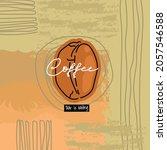 coffee logo creative abstract... | Shutterstock .eps vector #2057546588