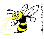 bee team mascot   Shutterstock .eps vector #205756228