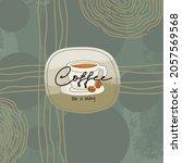 coffee logo creative abstract... | Shutterstock .eps vector #2057569568