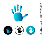 abstract hello gesture icon...