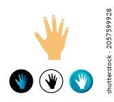 abstract hand icon illustration ...
