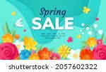 spring sale promotion banner... | Shutterstock .eps vector #2057602322