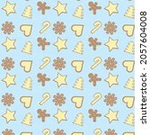 new year christmas pattern.... | Shutterstock .eps vector #2057604008