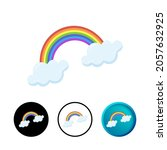 modern weather rainbow icon...