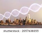dna hologram on new york...