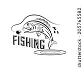 fishing vector design template | Shutterstock .eps vector #205765582