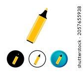 abstract highlighter pen icon...
