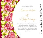 wedding invitation cards with... | Shutterstock .eps vector #205766896
