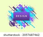 vector paint brush promotion...   Shutterstock .eps vector #2057687462