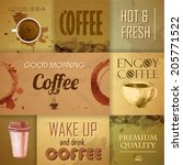 collection of vintage coffee... | Shutterstock .eps vector #205771522