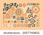 abstract african art shapes...   Shutterstock .eps vector #2057740832