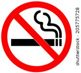 no smoking sign on white... | Shutterstock .eps vector #205775728